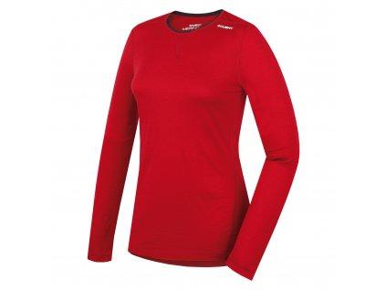 Husky Merino termoprádlo Tričko dlhé dámske červená (Veľkosť L)