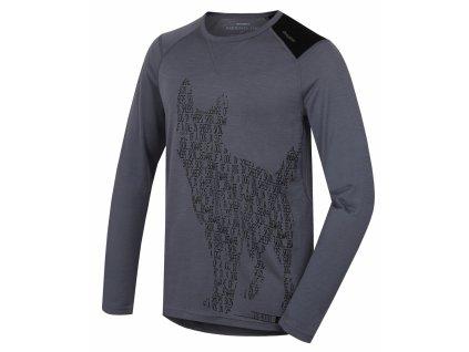 Husky Merino termoprádlo Tričko dlhé pánske Dog sivá (Veľkosť L)