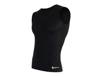 SENSOR COOLMAX AIR pánske tričko bez rukávov čierna (Veľkosť S)