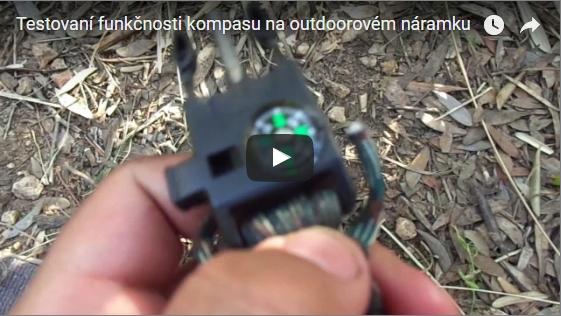 Zkouška funkčnosti kompasu outdoorového náramku Video