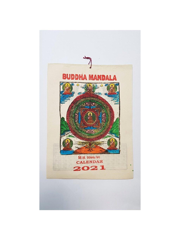 nepálský kalendář 2021 - Buddha Mandala