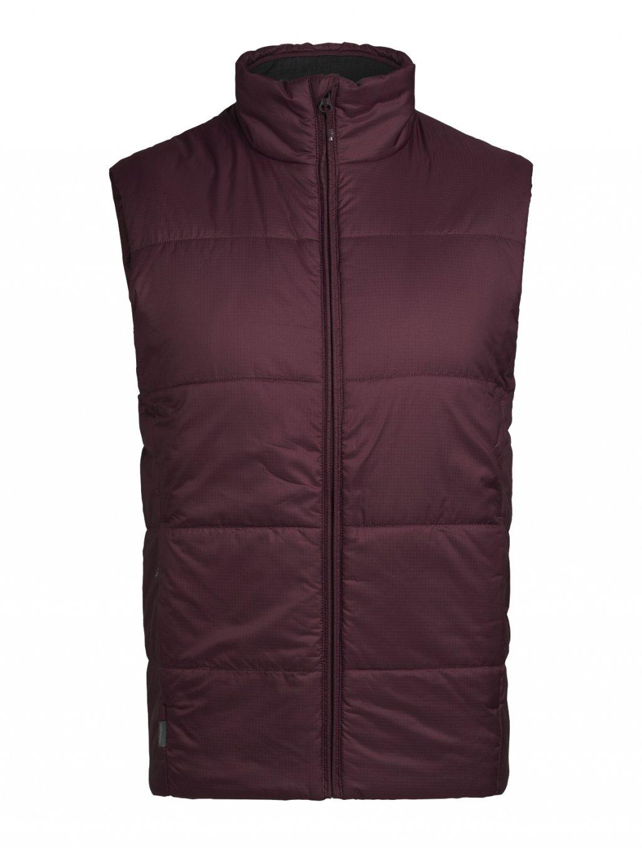ICEBREAKER Mens Collingwood Vest, Redwood (vzorek)