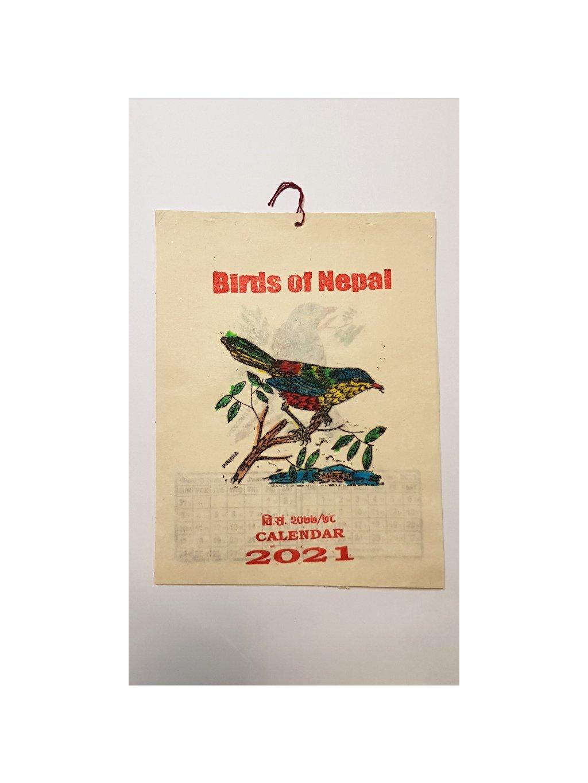nepálský kalendář 2021 - Birds of Nepal