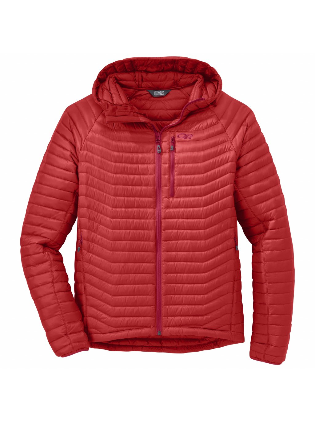 OUTDOOR RESEARCH Men's Verismo Hooded Down Jacket, Hotsauce (velikost XXL)