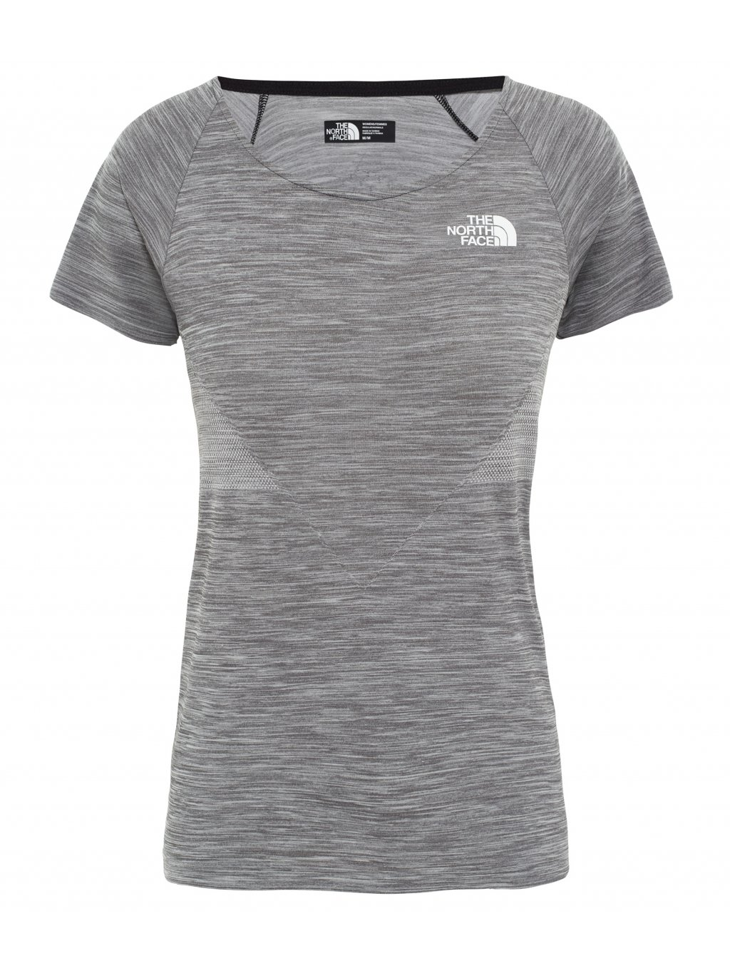 c6744beef THE NORTH FACE W IMPENDOR SEAMLESS TEE, TNF BLACK WHITE HEATHER