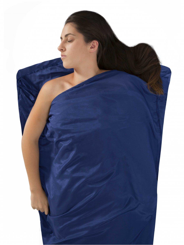 SEA TO SUMMIT vložka do spacáku Silk/Cotton Travel Liner Mummy (barva modrá, velikost OS (UNI))