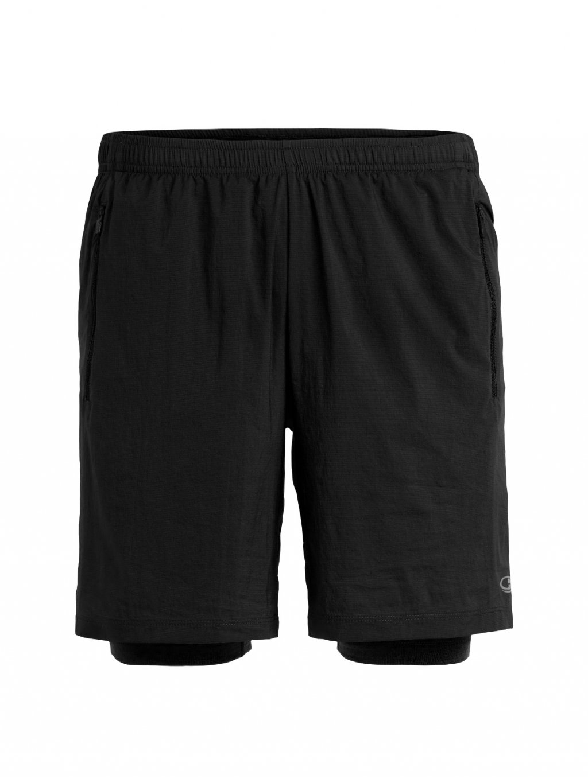 ICEBREAKER Mens Impulse Training Shorts, Black