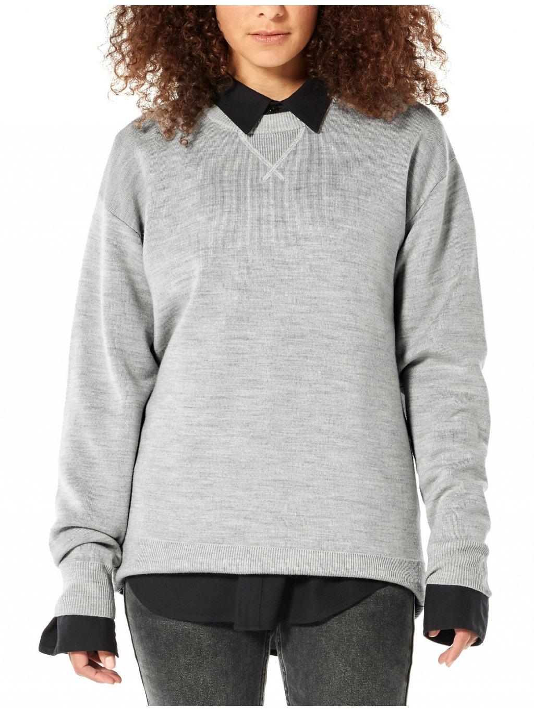 ICEBREAKER Wmns Nova Sweater Sweatshirt, Blizzard Heather