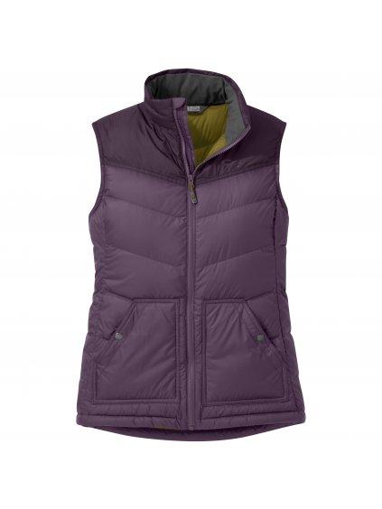 OUTDOOR RESEARCH Women's Transcendent Down Vest, vintage violet/blackberry