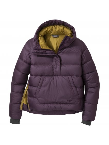 OUTDOOR RESEARCH Women's Transcendent Down Pullover, blackberry