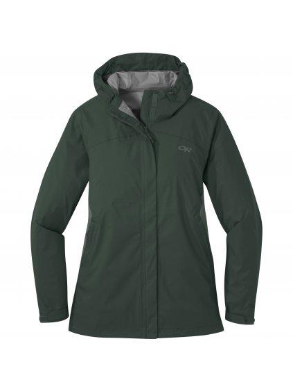 OUTDOOR RESEARCH Women's Apollo Stretch Rain Jacket, fir/cypress