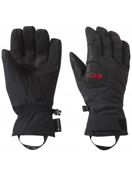OUTDOOR RESEARCH Women's BitterBlaze Aerogel Gloves, black/tomato