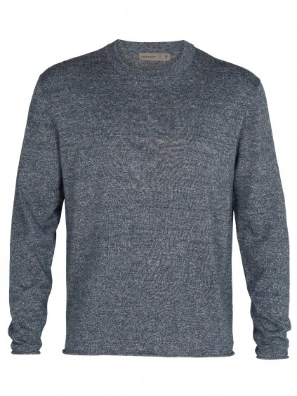 ICEBREAKER Mens Flaxen LS Crewe Sweater, Serene Blue (vzorek)