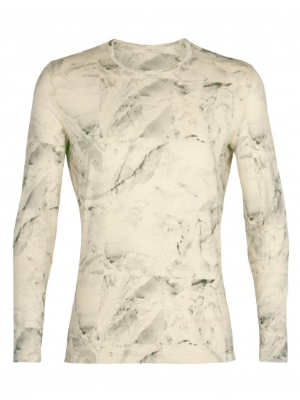 ICEBREAKER Mens Nature Dye 200 Oasis LS Crewe IB Glacier, Seed (vzorek)