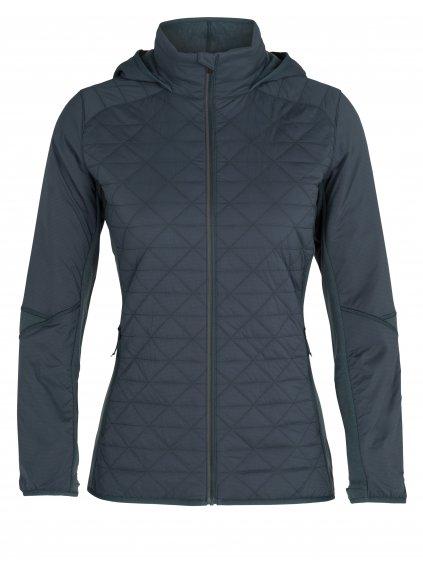 ICEBREAKER Wmns Headwaters Hybrid Hooded Jacket, Serene Blue (vzorek)