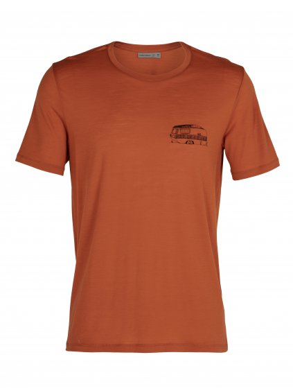 ICEBREAKER Mens Tech Lite SS Crewe The Good Life, Roote
