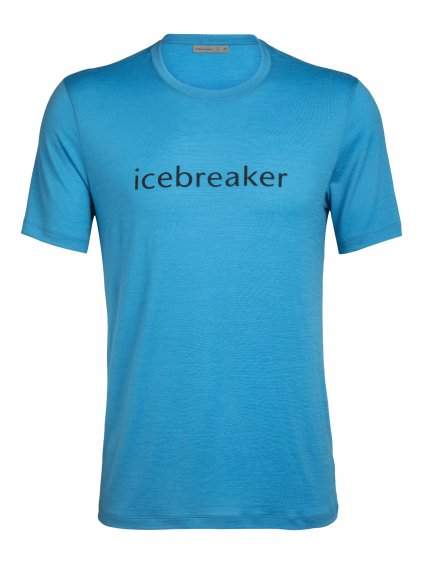 ICEBREAKER Mens Tech Lite SS Crewe Wordmark, Polar (vzorek)