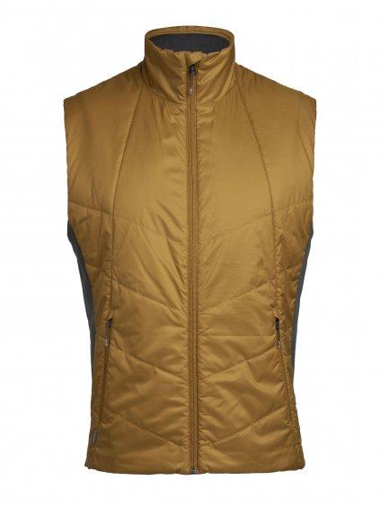 ICEBREAKER Mens Helix Vest, Curry (vzorek)
