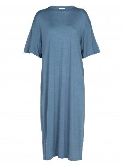 ICEBREAKER Wmns Cool-Lite Dress, Granite Blue (vzorek)
