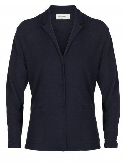 ICEBREAKER Wmns 180 Pique Jacket, Midnight Navy (vzorek)