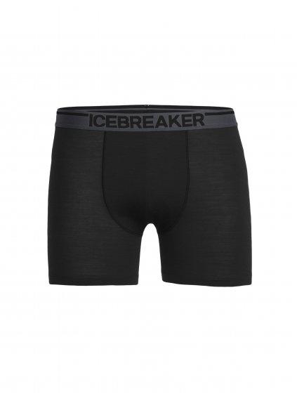 ICEBREAKER Mens Anatomica Boxers, Black