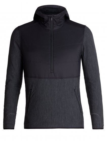 FW19 MEN DESCENDER HYBRID LS HALF ZIP HOOD 104279A05 1