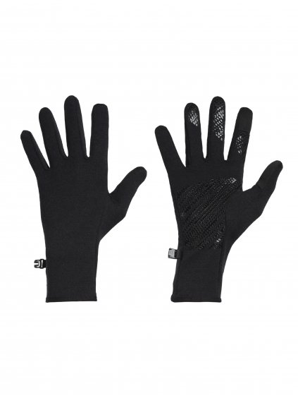 ICEBREAKER Adult Quantum Gloves, Black