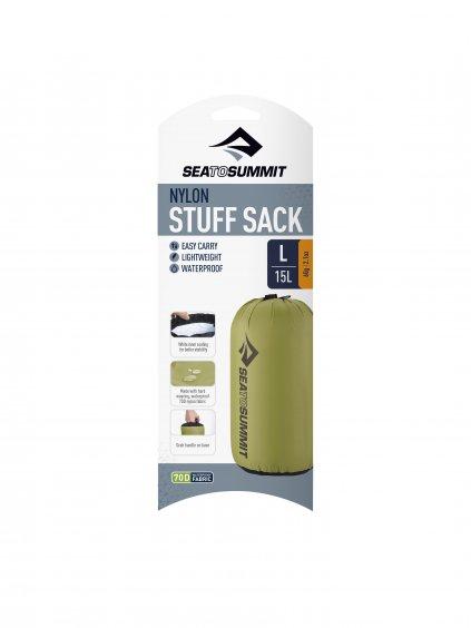 ASS LGN NylonStuffSack Large Green Packaging 01