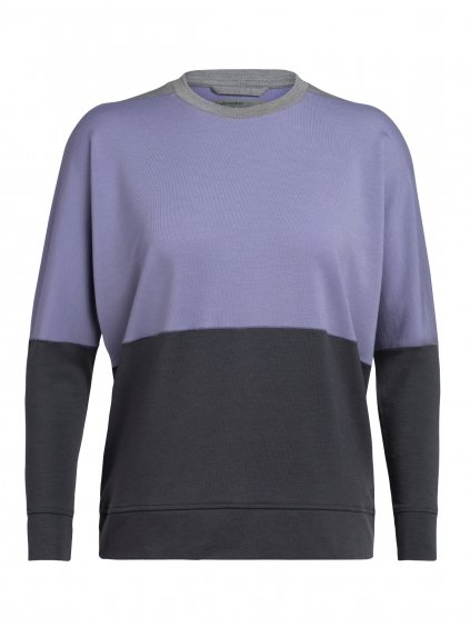 ICEBREAKER Wmns Momentum LS Crewe, Panther/Fossil