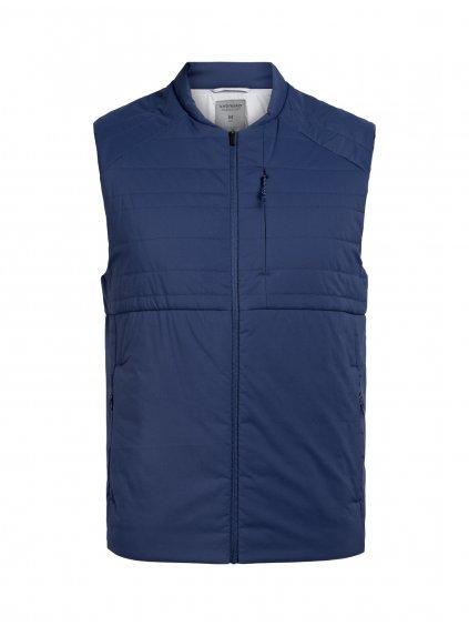 ICEBREAKER Mens Tropos Vest, Estate Blue