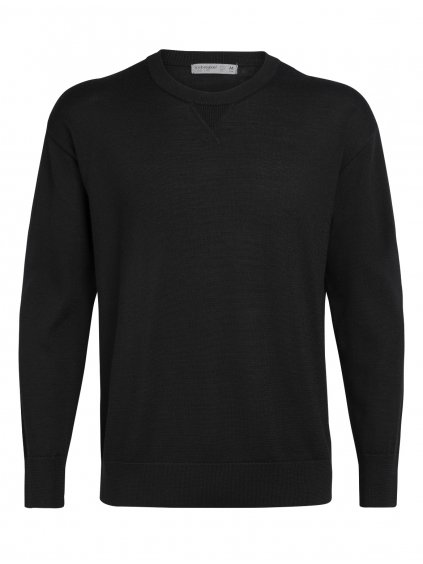 ICEBREAKER Mens Nova Sweater Sweatshirt, Black