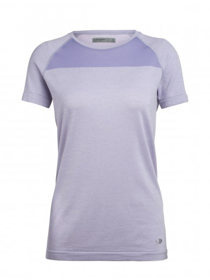 ICEBREAKER Wmns Motion Seamless SS Crewe, ORCHID Heather