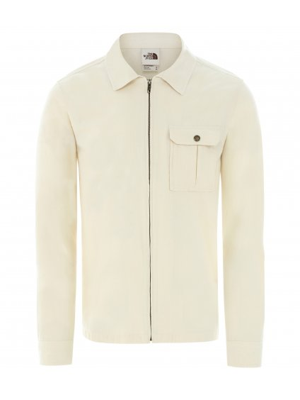 THE NORTH FACE M L/S Berkeley Zip Chambray Shirt Jacket, Raw Undyed