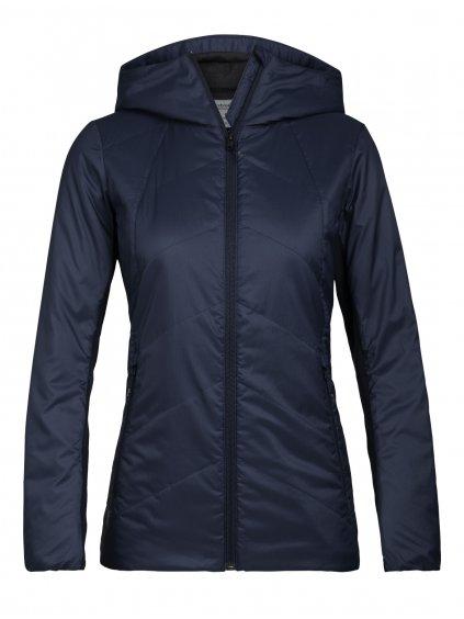 ICEBREAKER Wmns Helix Hooded Jacket, Midnight Navy
