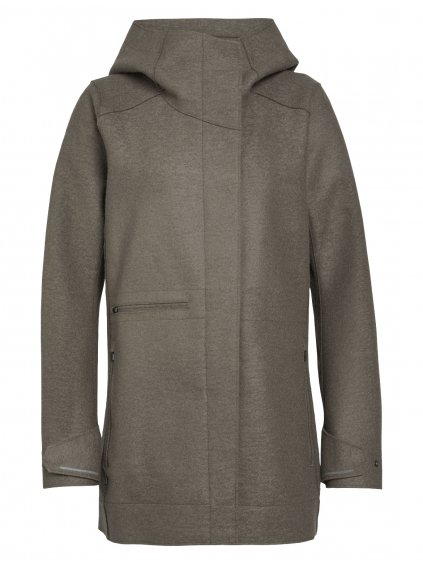 ICEBREAKER Wmns Ainsworth Hooded Jacket, DRIFTWOOD