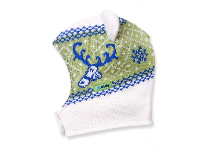 KAMA Dětská pletená kuklo-čepice Kama B16