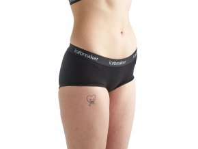 ICEBREAKER Wmns Sprite Hot pants, Black/Black