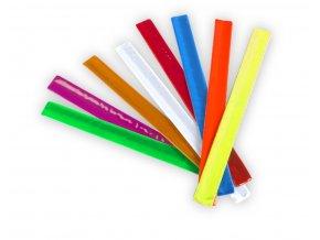 Pásek reflexní zaklapovací na ruku 32 x 3 cm, fialový