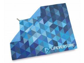 63071 softfibre printed giant blue triangles 2