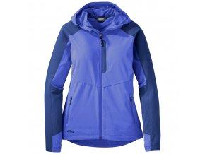 Outdoor Research Women's Ferrosi Hooded Jacket, Batik/Baltic (velikost XS)