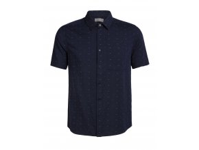 ICEBREAKER Mens Compass SS Shirt, Midnight Navy