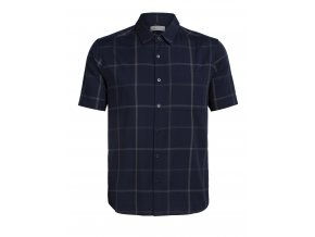 ICEBREAKER Mens Compass SS Shirt, Midnight Navy/Monsoon