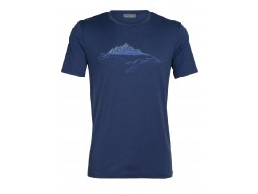 ICEBREAKER Mens Tech Lite SS Crewe Whitecap Whale, ESTATE BLUE