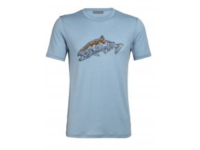 ICEBREAKER Mens Tech Lite SS Crewe Tetons Salmon, Waterfall