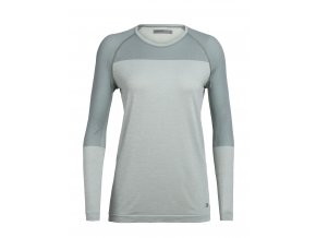 ICEBREAKER Wmns Motion Seamless LS Crewe, Shale HTHR