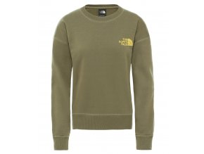 THE NORTH FACE W Parks Slightly Cropped Crew, Burnt Olive Green