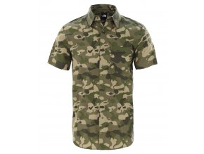 THE NORTH FACE M S/S Baytrail Pattern Shirt, Burntolivegrnponderosaprt