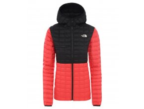 THE NORTH FACE W Thermoball Eco Active Hoodie, Cayenne Red/Tnf Black