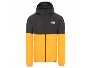 THE NORTH FACE M Flyweight Hoodie, Flame Orange/Tnf Black