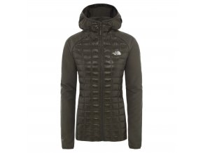 THE NORTH FACE W Thermoball Hybrid Hoodie Ii, New Taupe Green